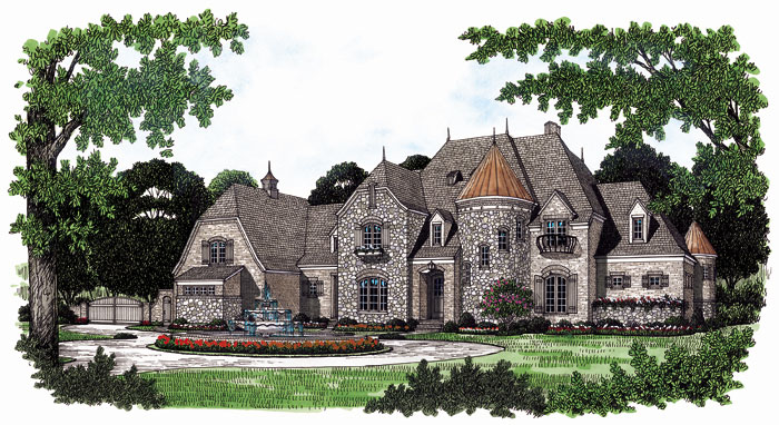 Luxury House Plan Front Image 129S-0013