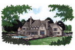 Luxury House Plan Color Image of House - 129S-0013 | House Plans and More