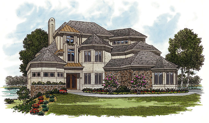 Arts & Crafts House Plan Front Image 129S-0015