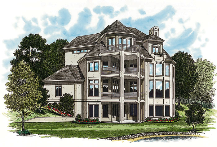 Traditional House Plan Color Image of House 129S-0015