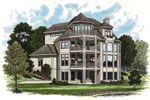 Luxury House Plan Color Image of House - 129S-0015 | House Plans and More
