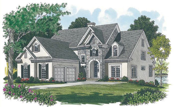 Cabin & Cottage House Plan Front Image 129S-0017