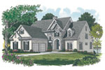 Luxury House Plan Front Image - 129S-0017 | House Plans and More