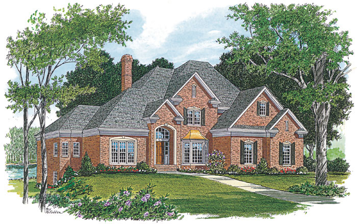 Luxury House Plan Front Image 129S-0016