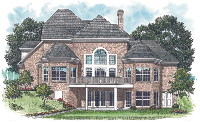 Luxury House Plan Color Image of House 129S-0016