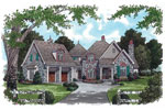 English Cottage House Plan Front Image - 129S-0018 | House Plans and More