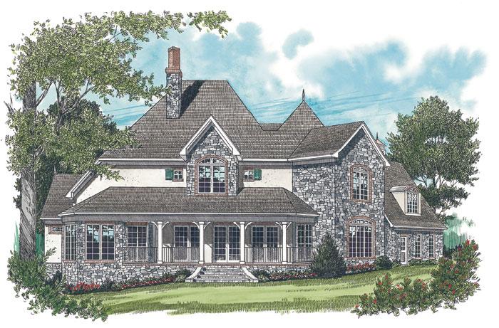 Arts and Crafts House Plan Color Image of House 129S-0018
