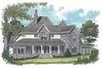 European House Plan Color Image of House - 129S-0018 | House Plans and More