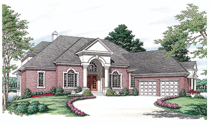 Luxury House Plan Front Image 129S-0019
