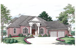 Colonial House Plan Front Image - 129S-0019 | House Plans and More