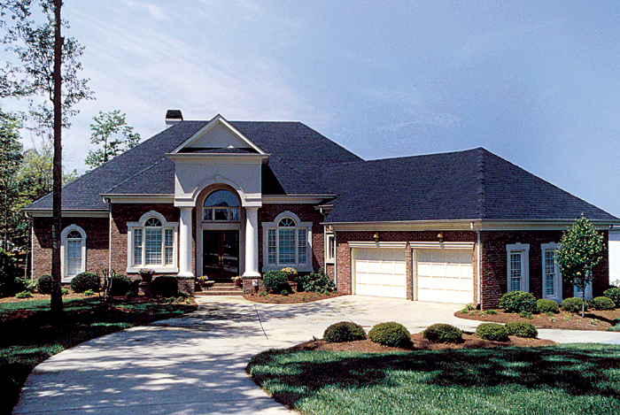 Luxury House Plan Front of Home 129S-0019