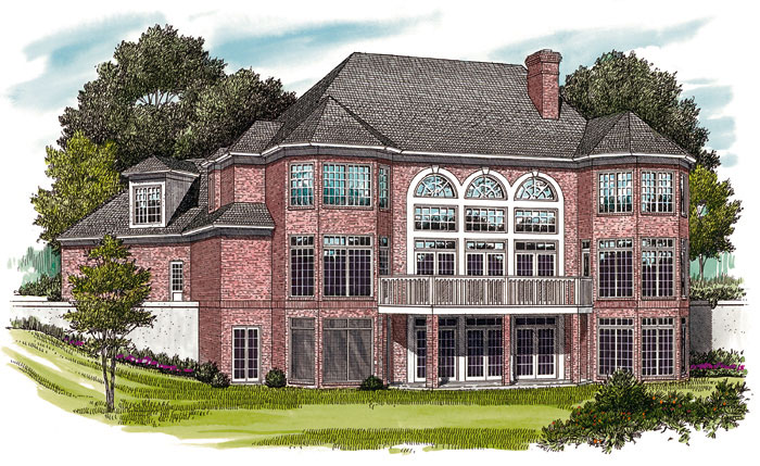 Luxury House Plan Color Image of House 129S-0019