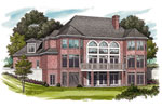 Colonial Floor Plan Color Image of House - 129S-0019 | House Plans and More