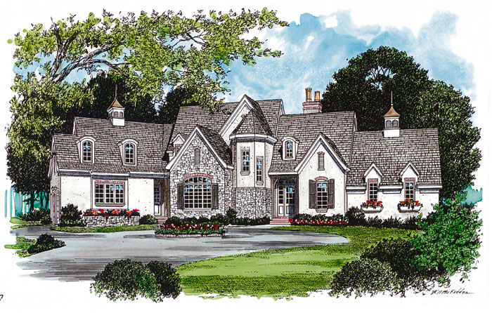 English Cottage Plan Front Image 129S-0020