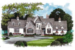 English Cottage Plan Front Image - 129S-0020 | House Plans and More