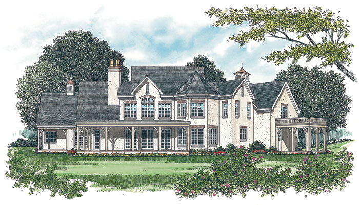 European House Plan Color Image of House - 129S-0020 | House Plans and More