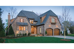 European House Plan Front of Home - 129S-0021 | House Plans and More