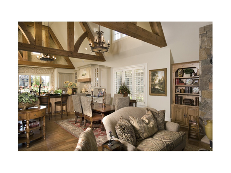 English Cottage House Plan Great Room Photo 01 - 129S-0021   House Plans and More