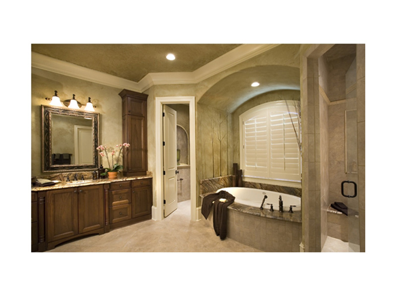 Luxury House Plan Master Bathroom Photo 01 - 129S-0021 | House Plans and More
