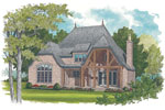 European House Plan Color Image of House - 129S-0021 | House Plans and More