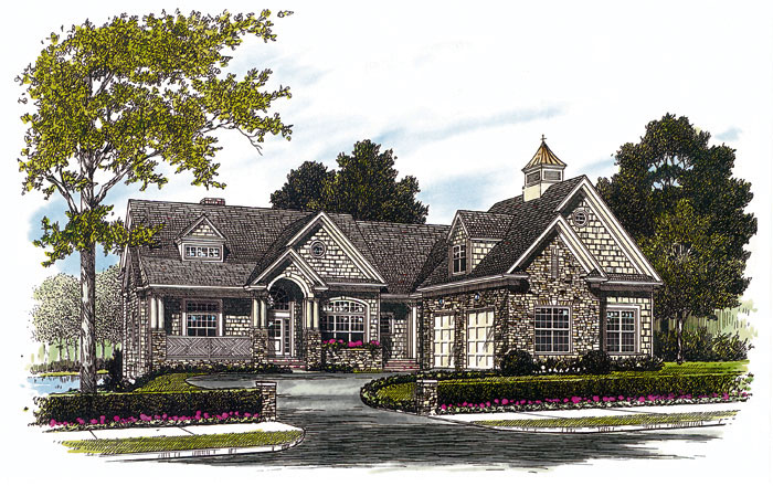 Arts and Crafts House Plan Front Image 129S-0022