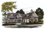 Cabin and Cottage Plan Front Image - 129S-0022 | House Plans and More