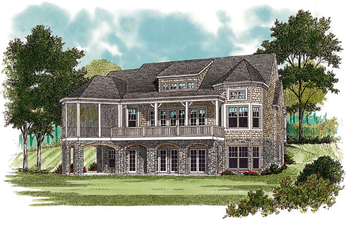 Arts and Crafts House Plan Color Image of House 129S-0022