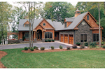 Ranch House Plan Front of Home - 129S-0023 | House Plans and More
