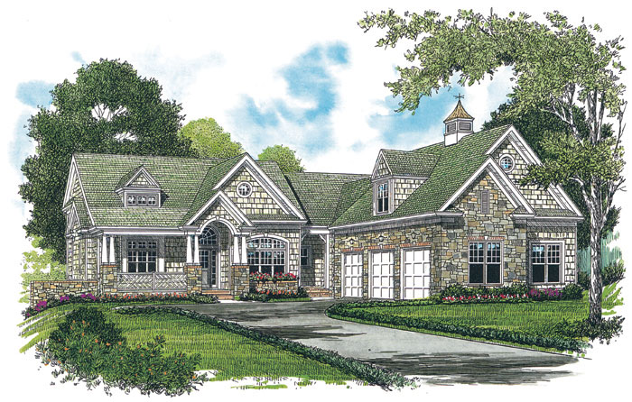Arts and Crafts House Plan Color Image of House 129S-0023