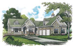 Luxury House Plan Color Image of House - 129S-0023 | House Plans and More