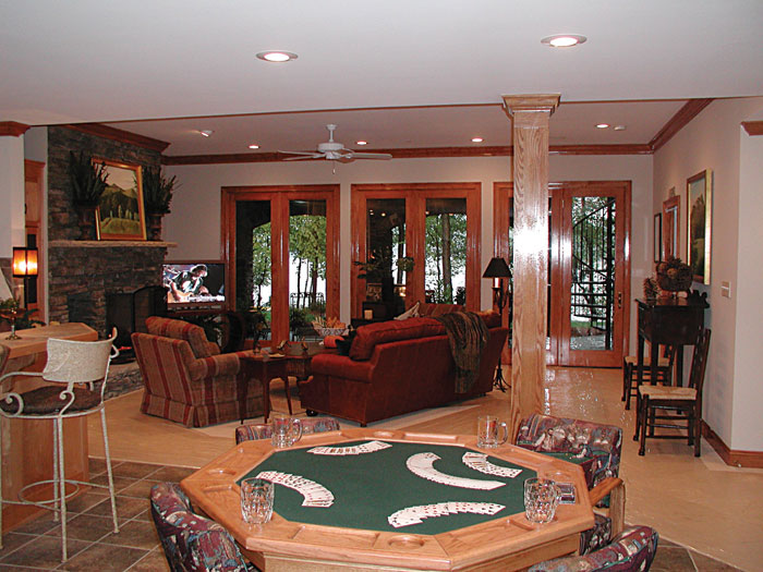 Luxury House Plan Recreation Room Photo 02 129S-0023