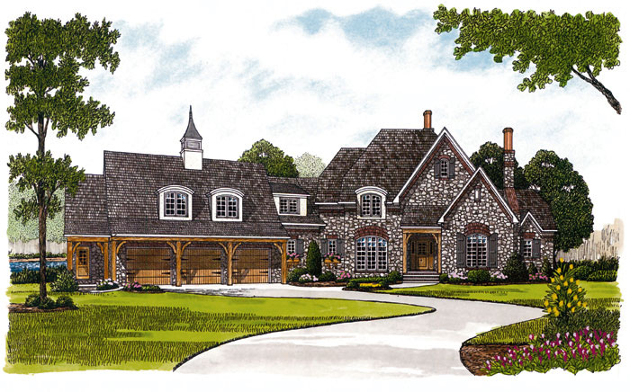 European House Plan Front Image 129S-0024