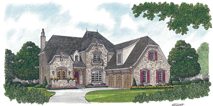English Cottage Plan Front Image 129S-0025
