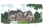 Luxury House Plan Front Image - 129S-0025 | House Plans and More