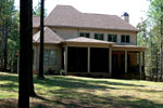 Early American House Plan Rear Photo 01 - 129S-0025 | House Plans and More