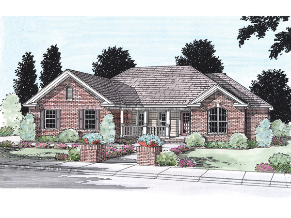 Albury traditional ranch home plan 130d 0026 house plans for Traditional ranch home plans