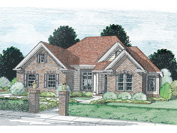 Greenburg Traditional Ranch Home Plan 130d 0037 House