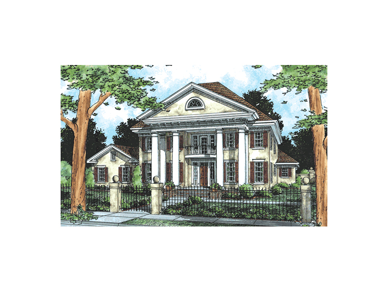 Orlando plantation southern home plan 130d 0081 house for Plantation columns