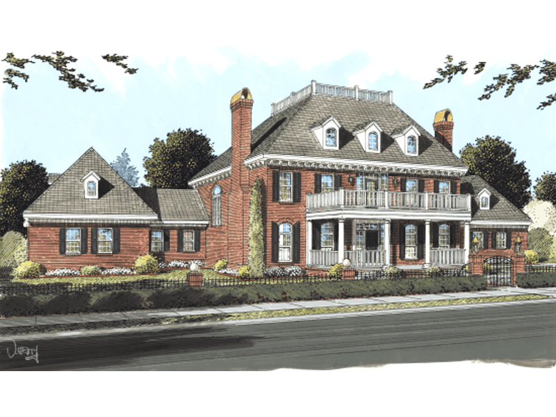Oaktree estate luxury home plan 130d 0183 house plans for Luxury plantation home plans