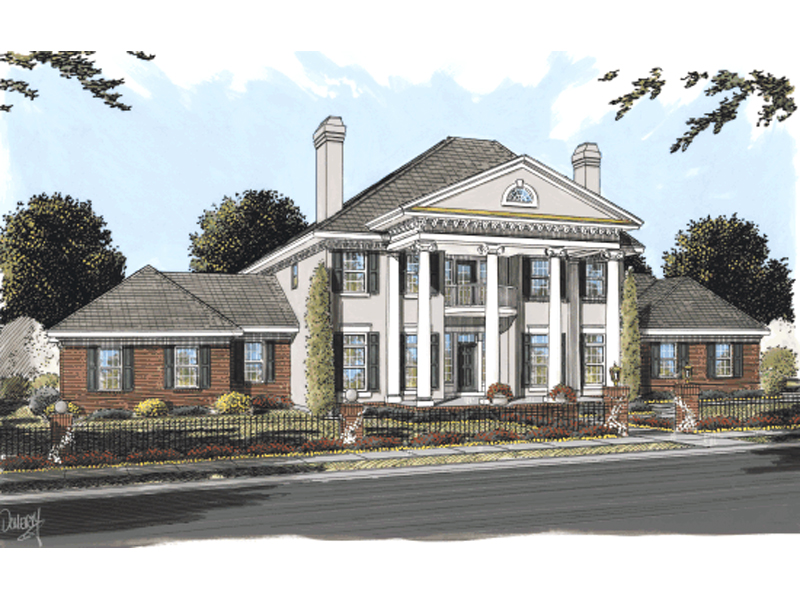 damaris greek revival home plan 130d-0184 | house plans and more