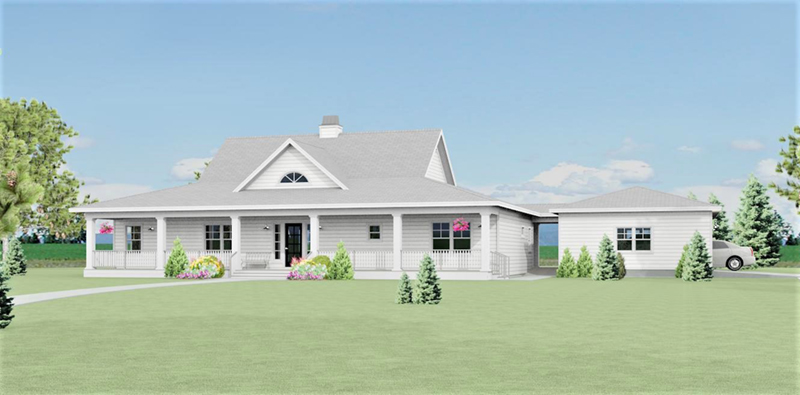 Acadian House Plan Front of Home - 135D-0006 | House Plans and More
