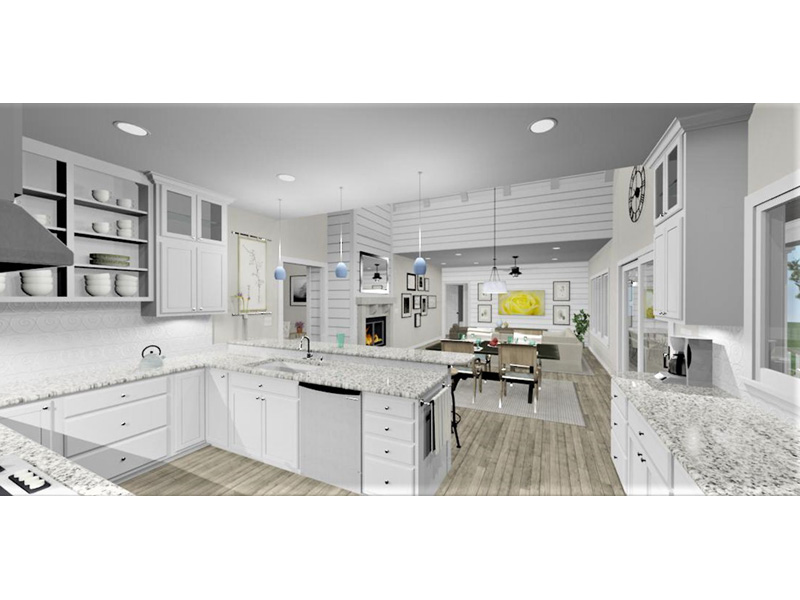 Traditional House Plan Kitchen Photo 01 - 135D-0006 | House Plans and More