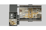 Country House Plan 3D First Floor - 135D-0007 | House Plans and More