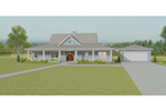 Southern House Plan Front of Home - 135D-0007 | House Plans and More