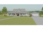 Ranch House Plan Front Photo 03 - 135D-0007 | House Plans and More