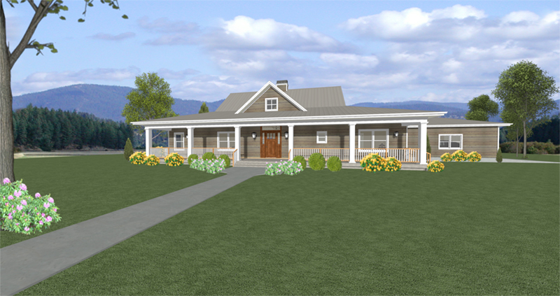 Acadian House Plan Front of Home - 135D-0008 | House Plans and More