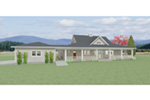 Acadian House Plan Front Photo 01 - 135D-0008 | House Plans and More