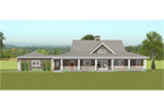 Acadian House Plan Rear Photo 01 - 135D-0008 | House Plans and More