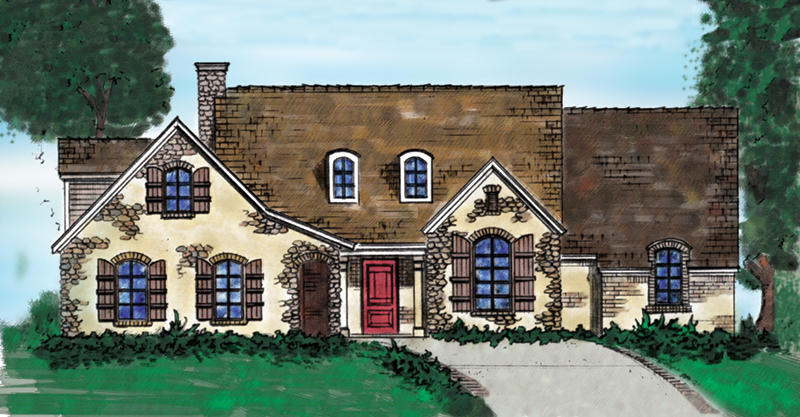 Country House Plan Front of Home - 137D-0001 | House Plans and More