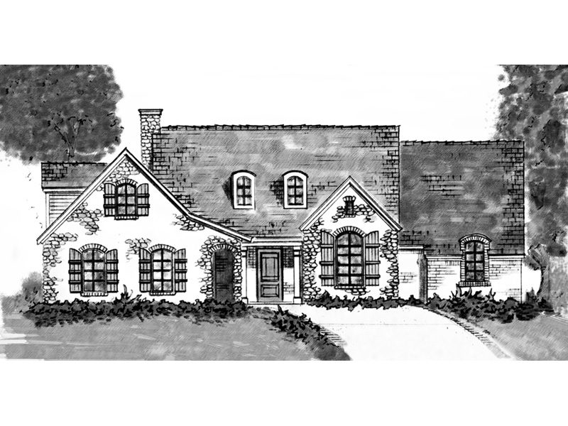 Country House Plan Front Image of House - 137D-0001 | House Plans and More